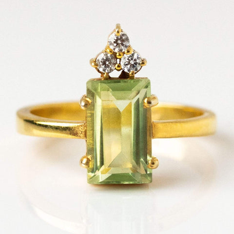Mireya Ring with Green Amethyst