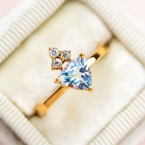 Valentina Ring with Blue Topaz