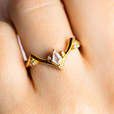 Minka Ring with Moonstone