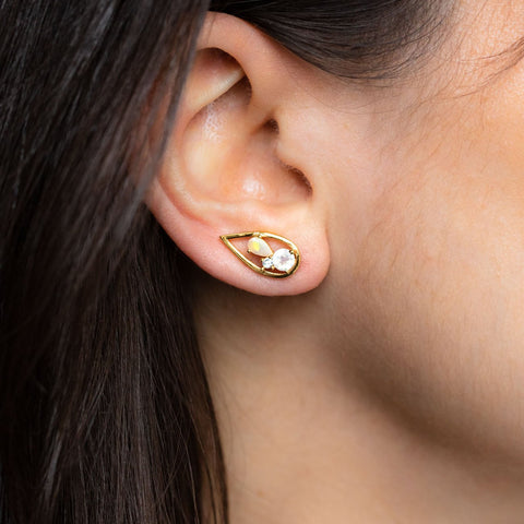 Sandrina Ear Climbers with Mixed Stones