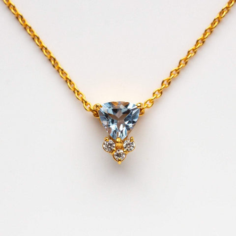 Colette Necklace with Blue Topaz
