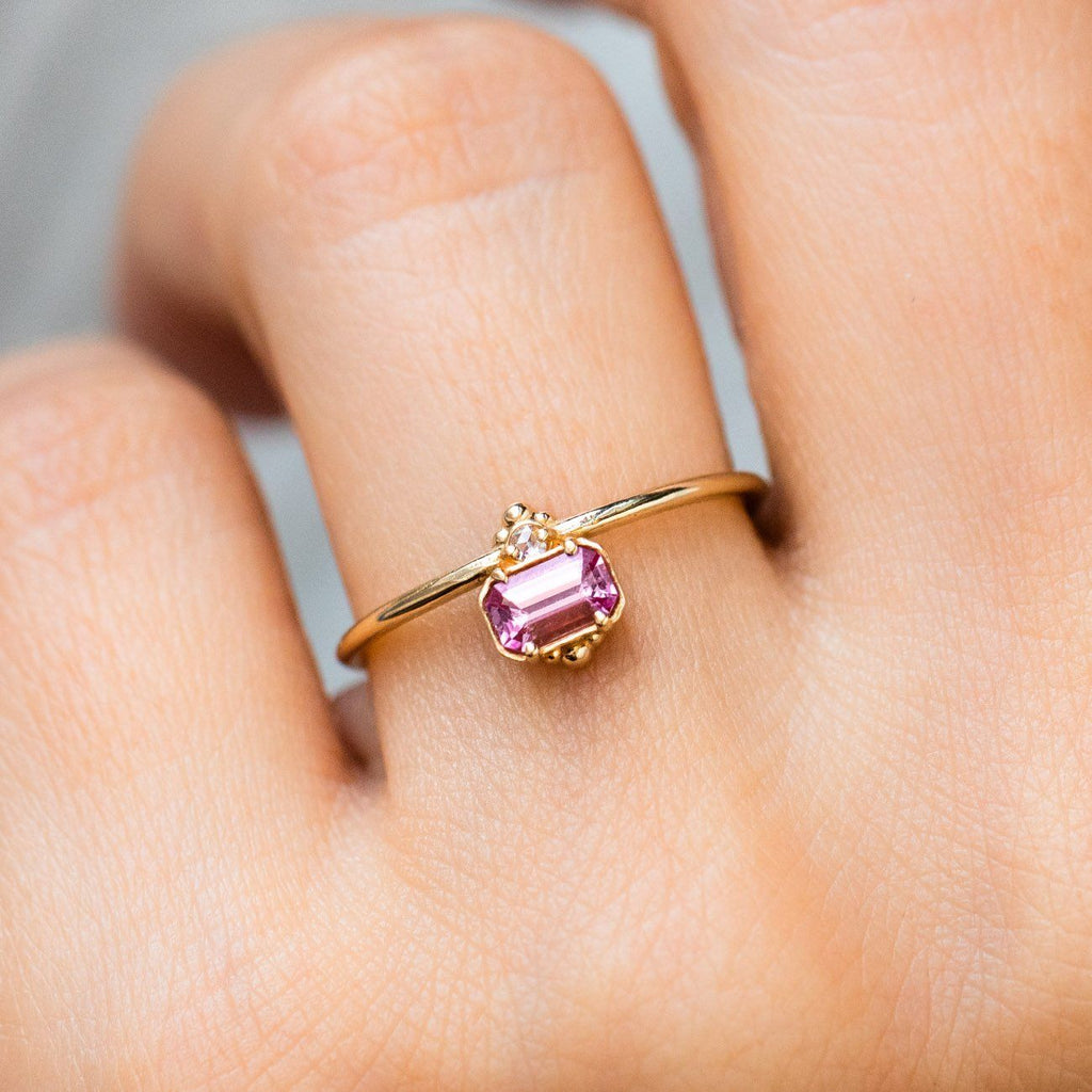 Daybreak Ring with Pink Sapphire - rings - Melanie Casey local eclectic