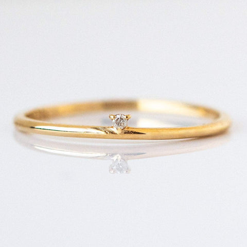 Solid Gold & Star Ring