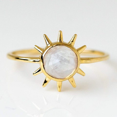 Sonny Ring with Moonstone- rings - Merewif local eclectic