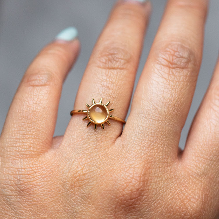 Sonny Ring with Citrine- rings - Merewif local eclectic