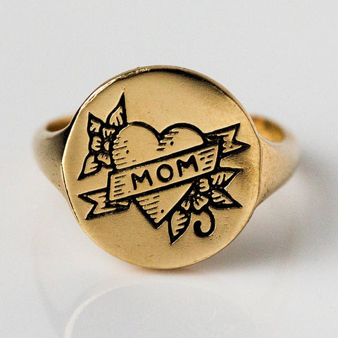 Forever Signet Mom Ring - rings - Merewif local eclectic