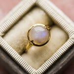 Bubble Ring with Moonstone - rings - Merewif local eclectic