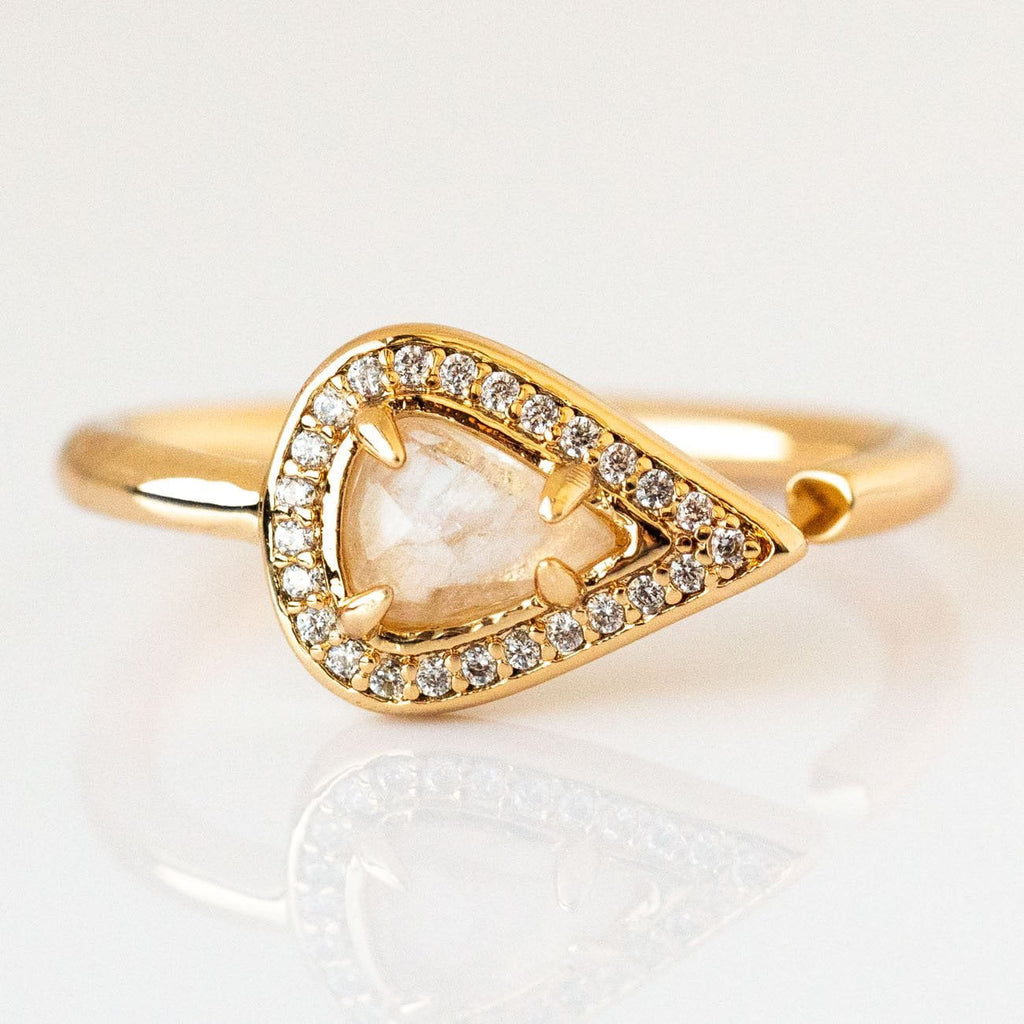 Moonstone Lyra Ring