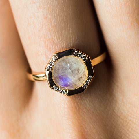 Moonstone Athena Ring
