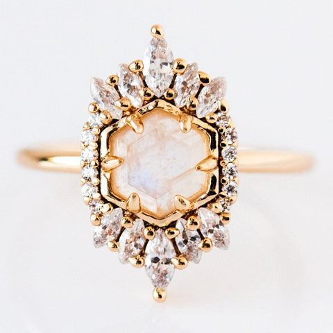 Moonstone Medina Ring - rings - Melanie Auld local eclectic