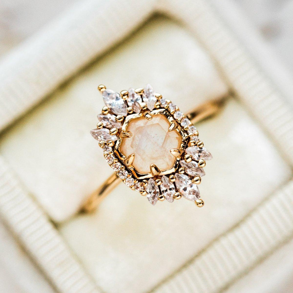 Vintage Moonstone Statement Ring