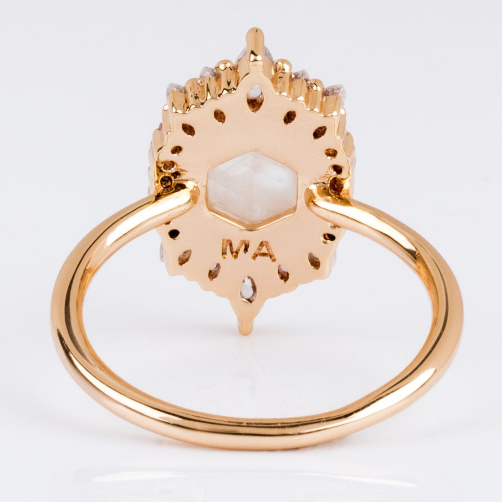 Moonstone Medina Vintage Gold Statement Ring