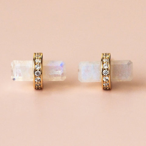 Lumos Studs with Moonstone
