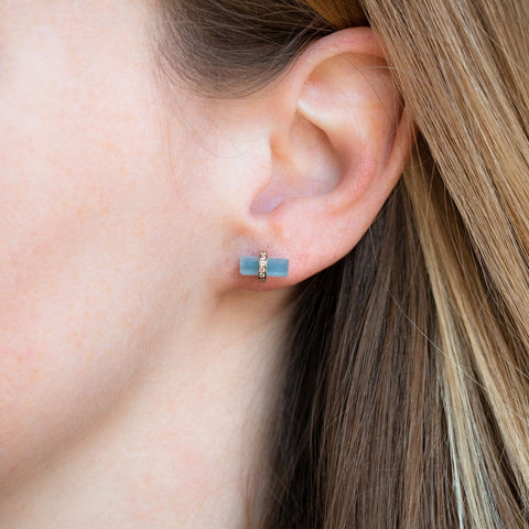 Lumos Studs with Aquamarine