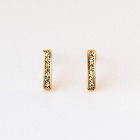 Pave Bar Stud Earrings