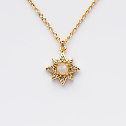 Starburst Necklace with Moonstone - necklaces - Melanie Auld local eclectic