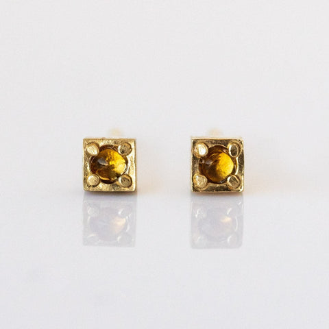 Stag Studs with Citrine