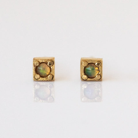 Stag Studs with Opal