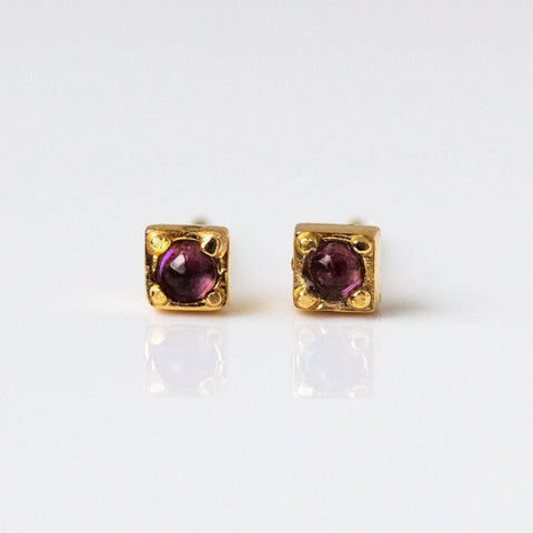 Stag Studs with Amethyst