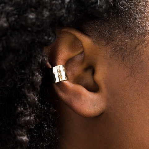 Hammered Ear Cuff in Gold - earrings - Melinda Maria local eclectic