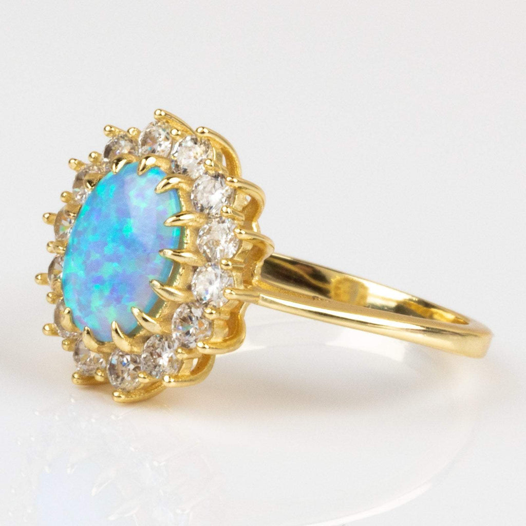 Melinda Maria Blue Opal Cocktail Ring