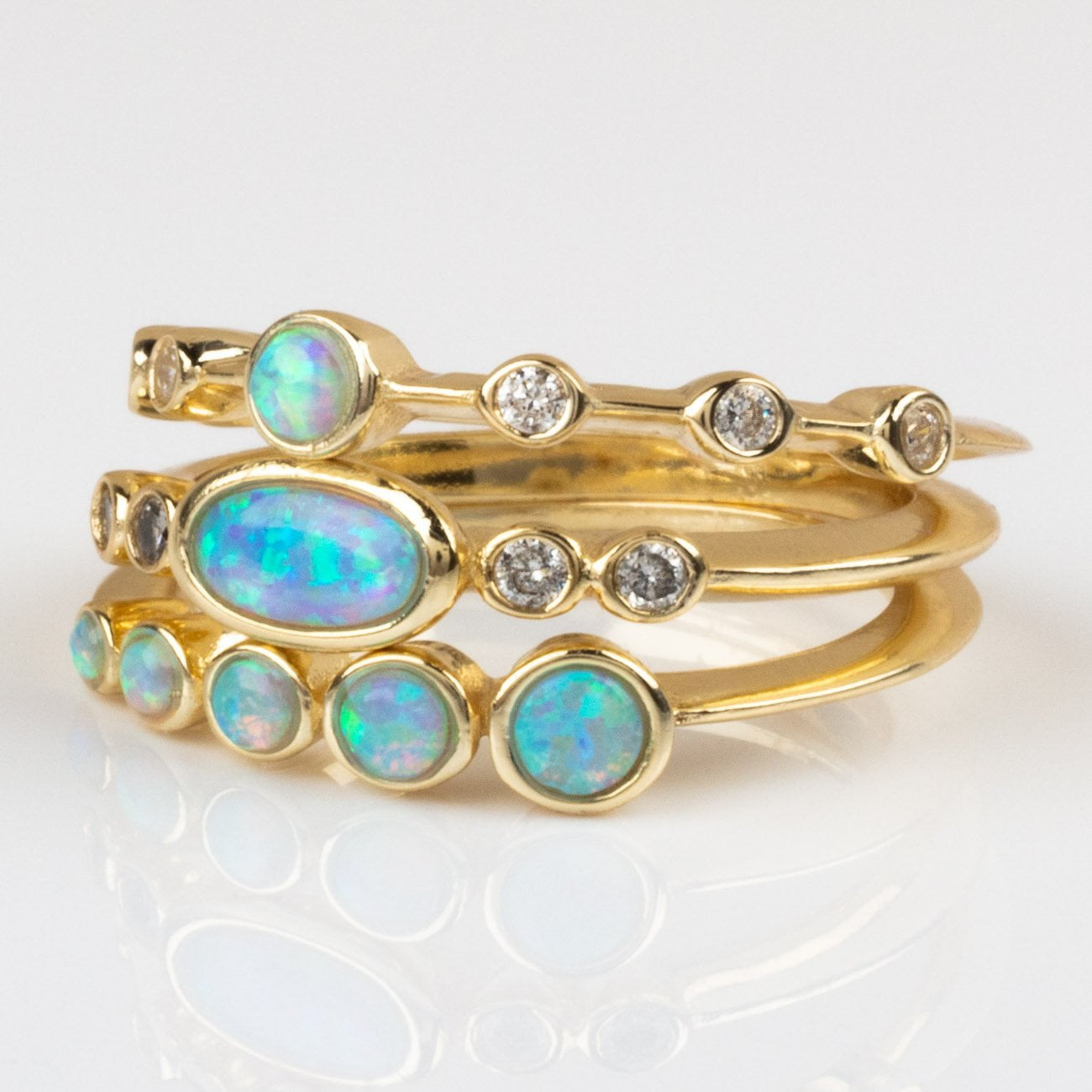 2e632244020b0 Monet Stacking Ring Set with Opal