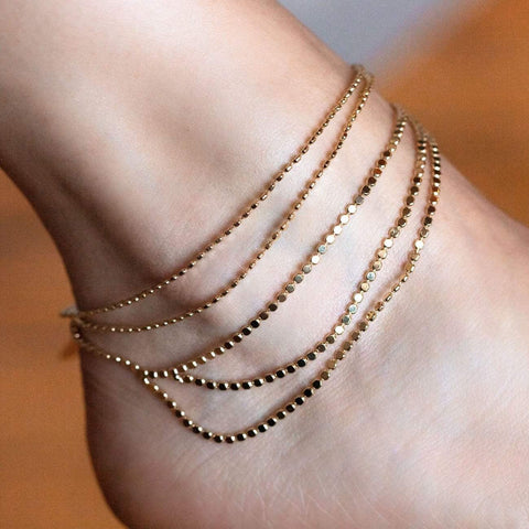 Eloise Layered Anklet Gold