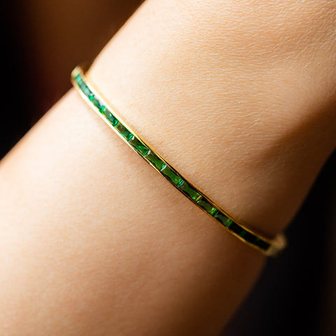 Local Eclectic - 18K Yellow Gold Claire Emerald Bracelet - Melinda Maria