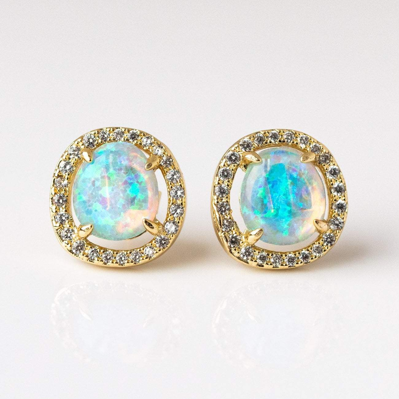64bb9986d local eclectic | Sarah Louise Blue Opal Stud Earrings