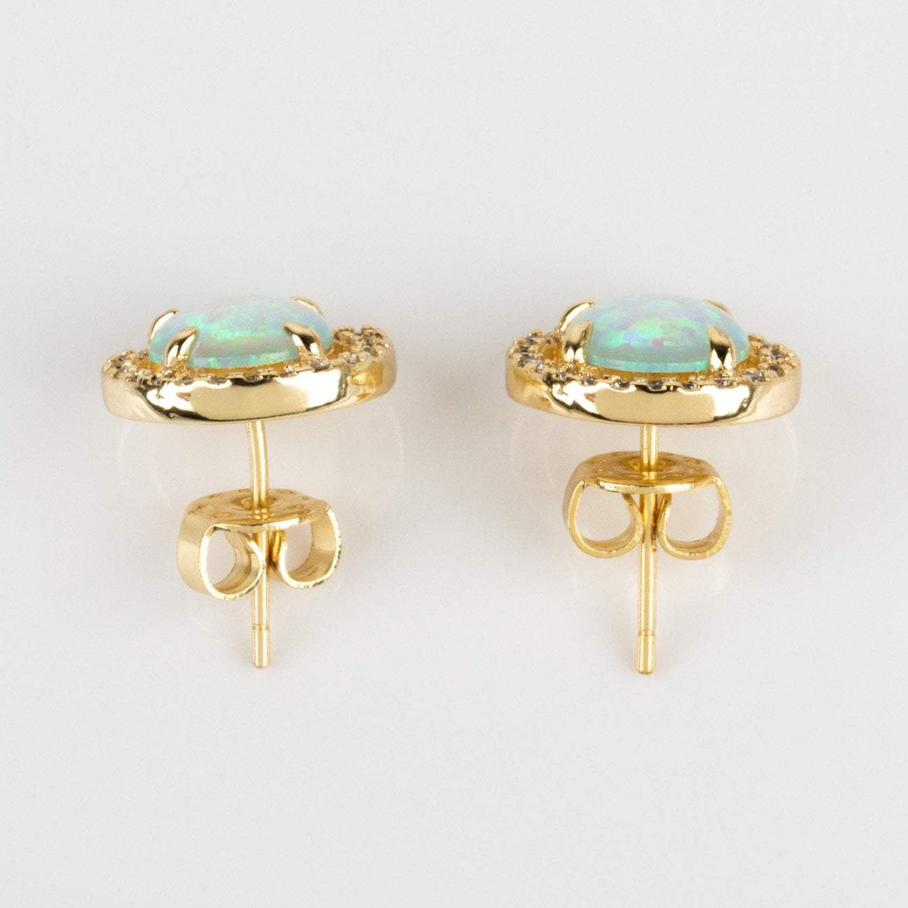 7f79d41ce local eclectic | Sarah Louise Blue Opal Stud Earrings