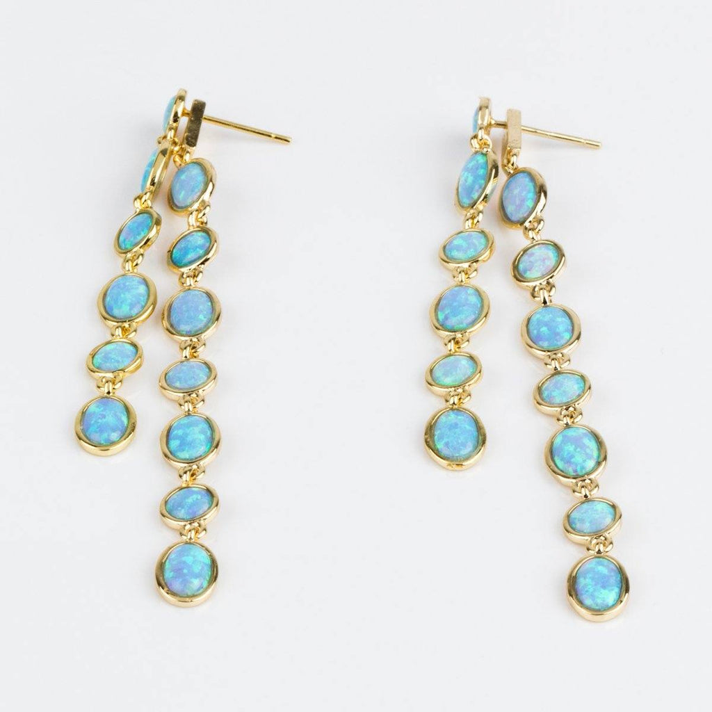 Ellie Earrings in Gold with Opal - earrings - Melinda Maria local eclectic