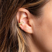 Ryan Ear Cuff dainty minimal earring yellow gold jewelry