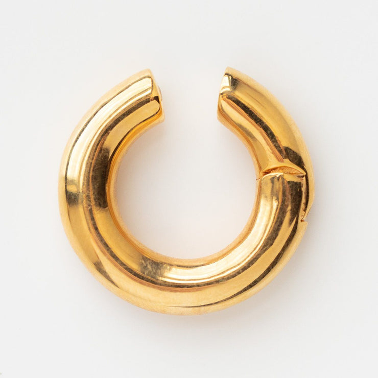 Lia Ear Cuff statement earring yellow gold minimal statement jewelry