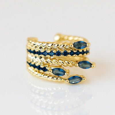 Ryan Ear Cuff earrings Melinda Maria Blue CZ