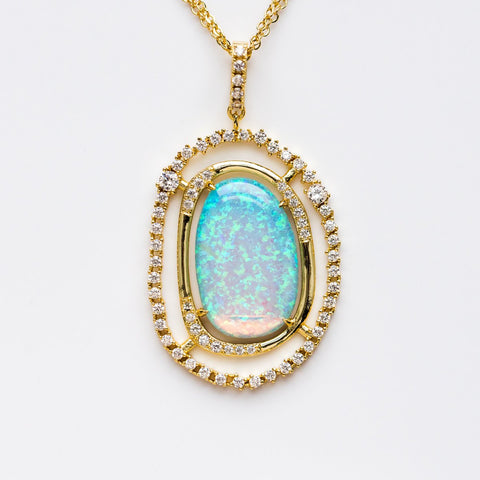 Barrie Opal Statement Necklace - necklaces - Melinda Maria local eclectic