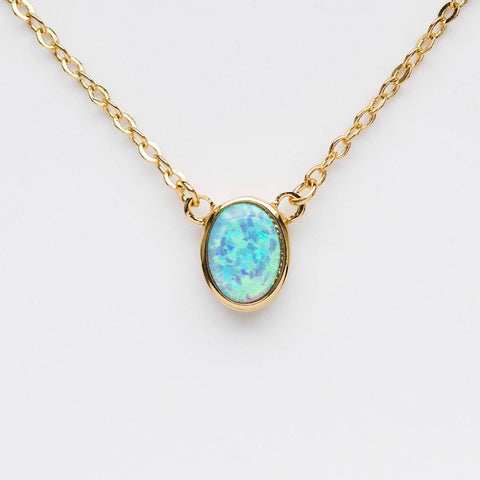 Single Thorn Opal Necklace - necklaces - Melinda Maria local eclectic