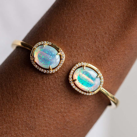 Arabella Hinge Opal Bangle Bracelet