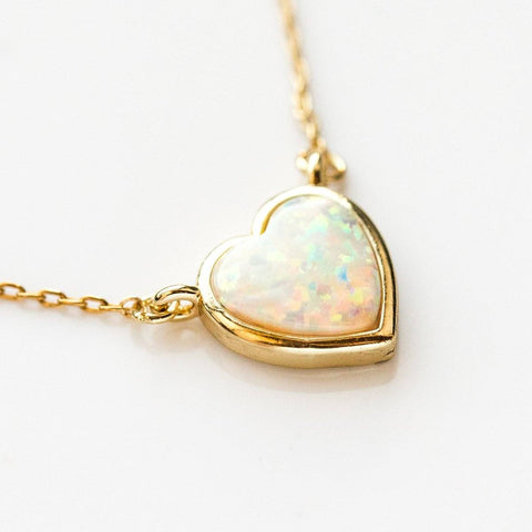 Lustig Necklace in Gold with Opal - necklaces - Melinda Maria local eclectic