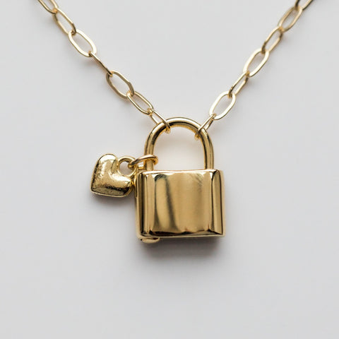 Lover's Lock Necklace - necklaces - Merewif local eclectic