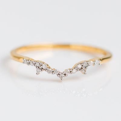Milky Way Diamond Stacking Ring - rings - Carrie Elizabeth Jewelry local eclectic