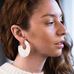 Adella Earrings in Ivory Torte - earrings - Casa Clara local eclectic