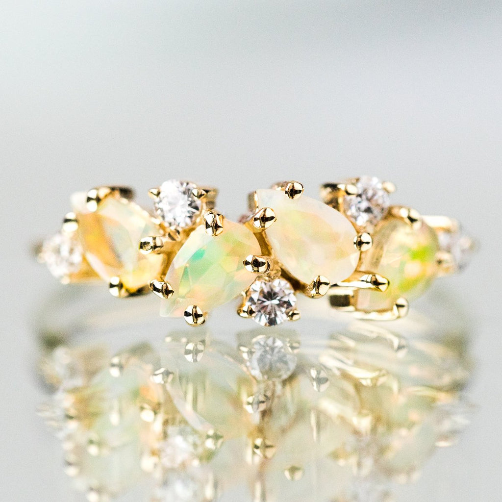 14K Opal & Diamond Woodland Fairytale Ring - rings - La Kaiser local eclectic