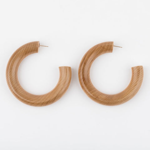 Large Pine Hoop Earrings - earrings - Sophie Monet Jewelry local eclectic