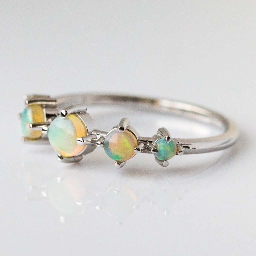 14K Opal Talisman Ring in White Gold - rings - Liesel Love local eclectic