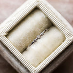 Tiny Triple Diamond Ring in White Gold - rings - Liesel Love local eclectic