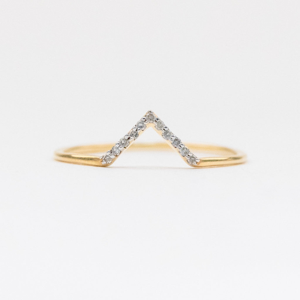 Big Bang Stacking Ring Set with Moonstone & Diamonds - rings - Carrie Elizabeth Jewelry local eclectic