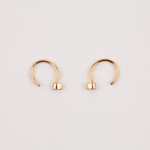 CZ Ear Huggers Gold Earrings