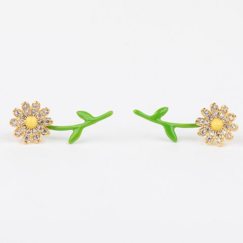 Pushing Up Daisies Stud Earrings - earrings - Tai Jewelry local eclectic