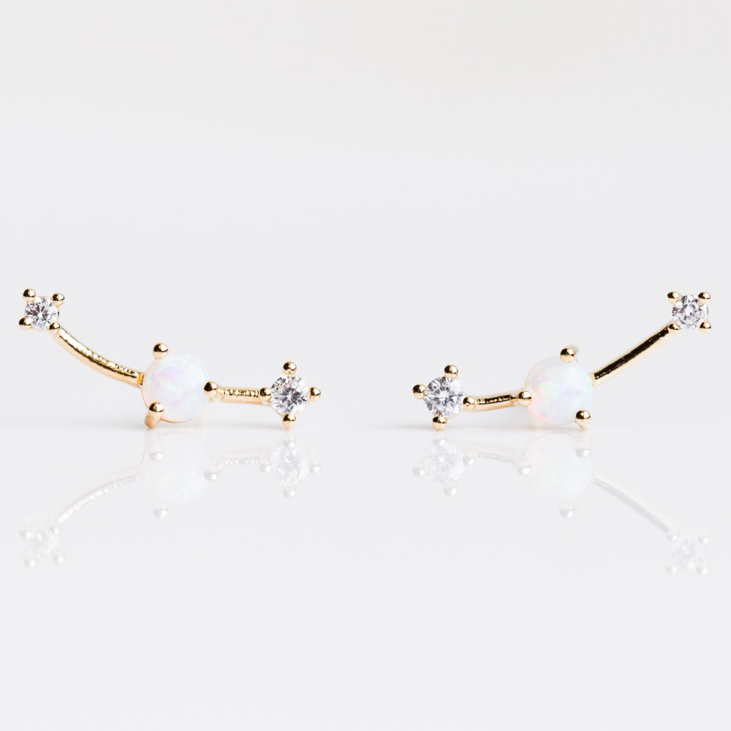 79c37e51b Opal Ear Climber with CZ Accents - earrings - Tai Jewelry local eclectic