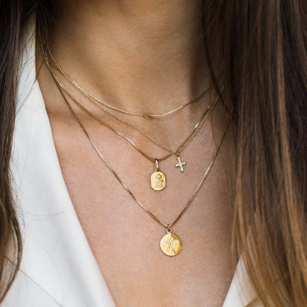 Dainty Gold Layering Necklace Pendant